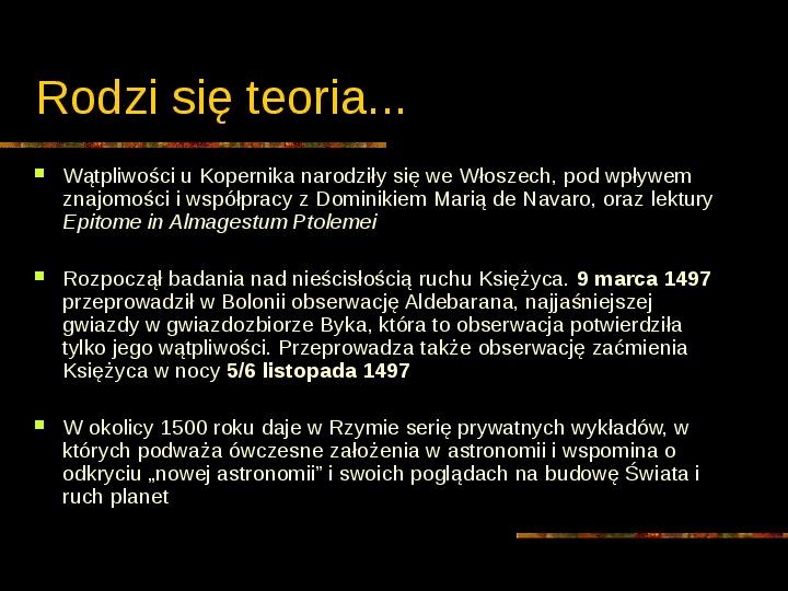 Mikołaj Kopernik - Slajd 20