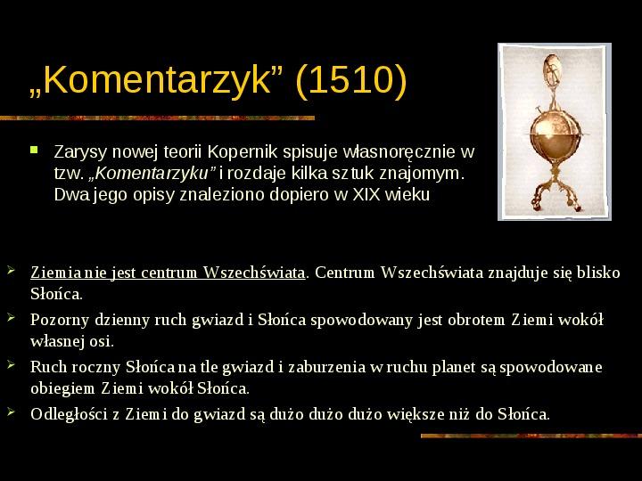 Mikołaj Kopernik - Slajd 21