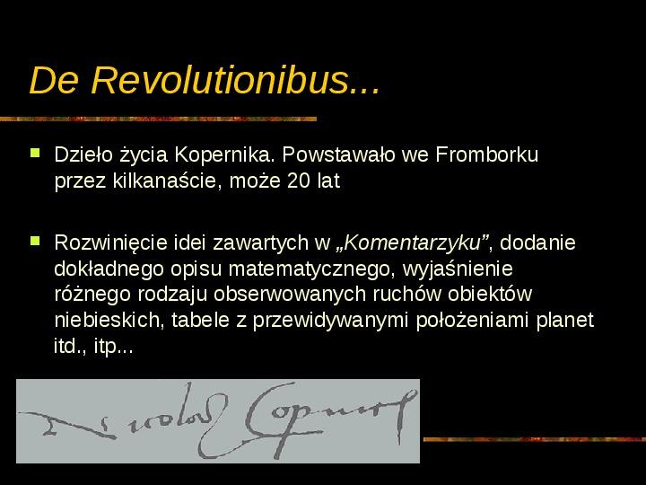 Mikołaj Kopernik - Slajd 22