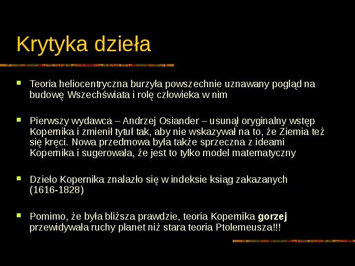 Mikołaj Kopernik - Slajd 24