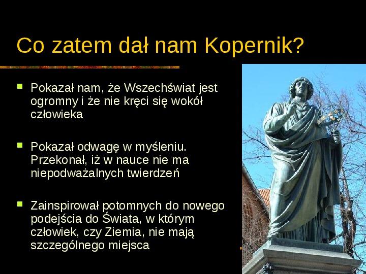 Mikołaj Kopernik - Slajd 26