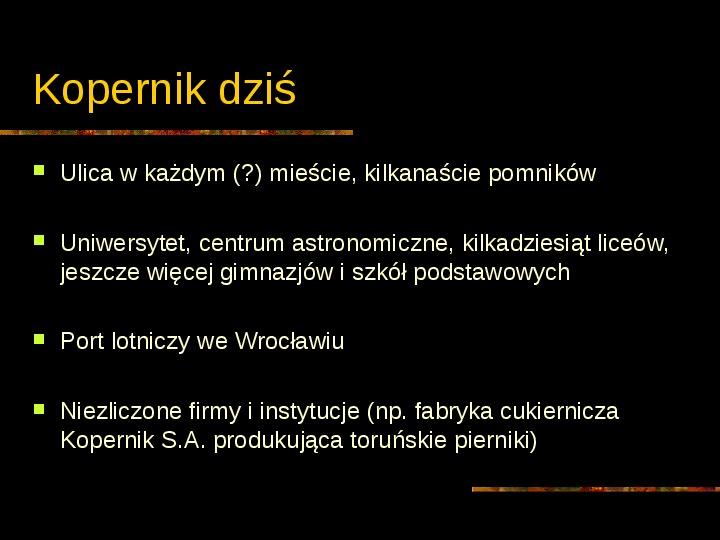 Mikołaj Kopernik - Slajd 27
