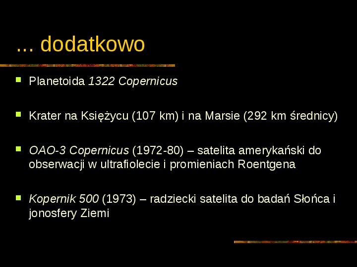 Mikołaj Kopernik - Slajd 29
