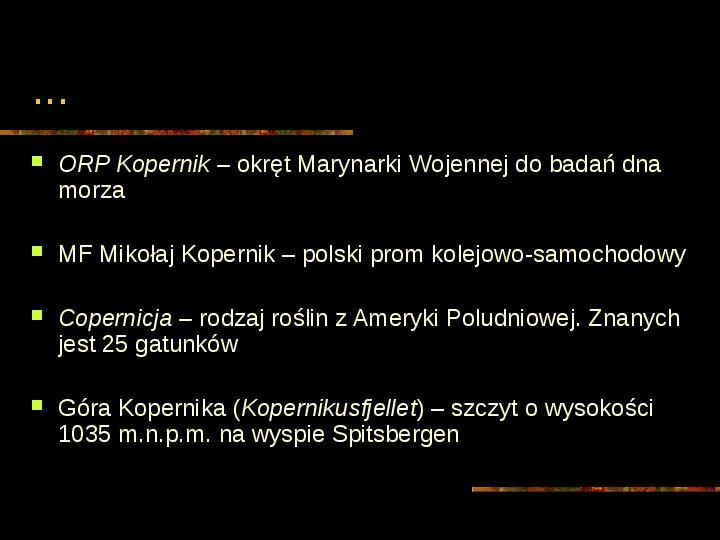 Mikołaj Kopernik - Slajd 30