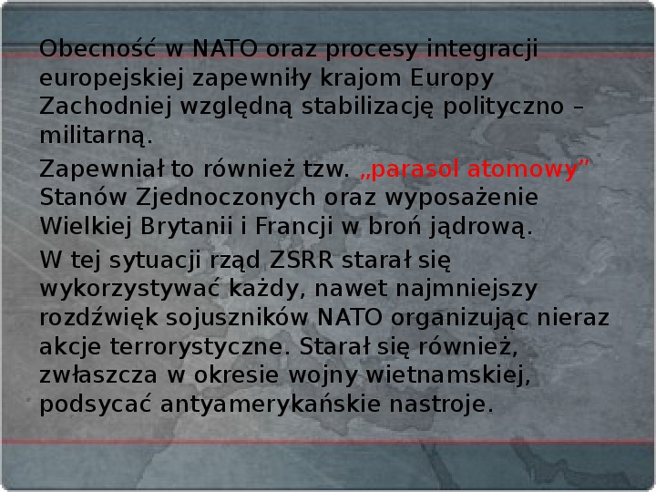 Kraje Europy Zachodniej po II wojnie światowej - Slajd 2