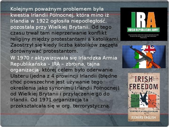 Kraje Europy Zachodniej po II wojnie światowej - Slajd 14