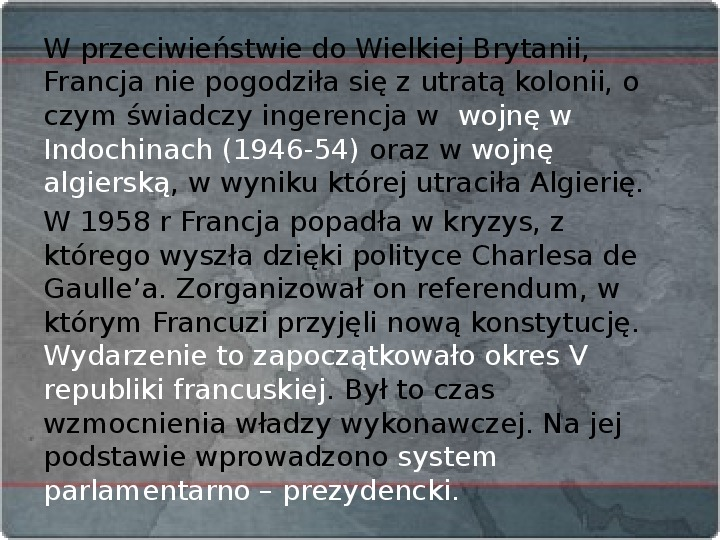 Kraje Europy Zachodniej po II wojnie światowej - Slajd 16