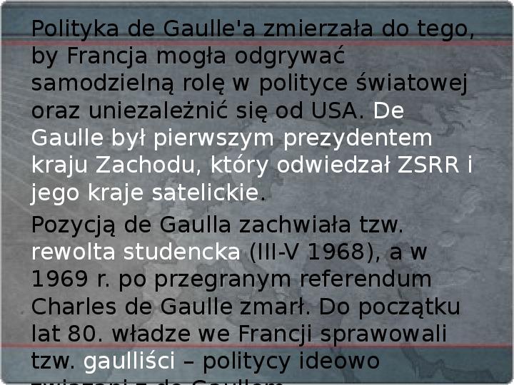 Kraje Europy Zachodniej po II wojnie światowej - Slajd 17