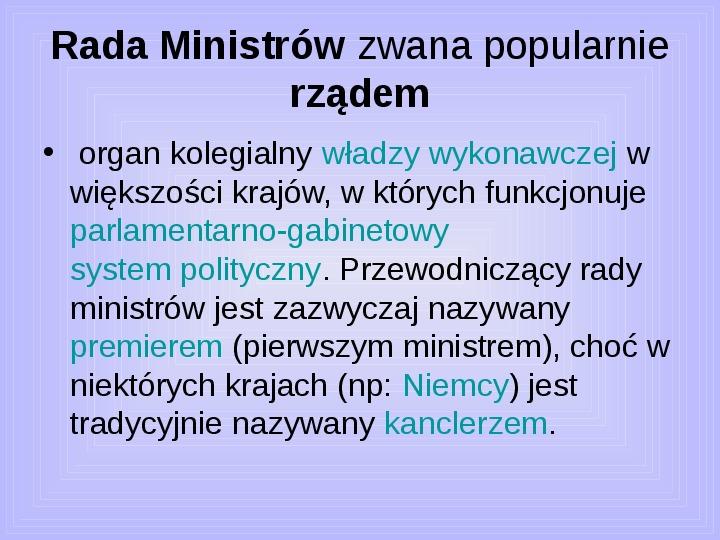 Rada ministrów - Slajd 3