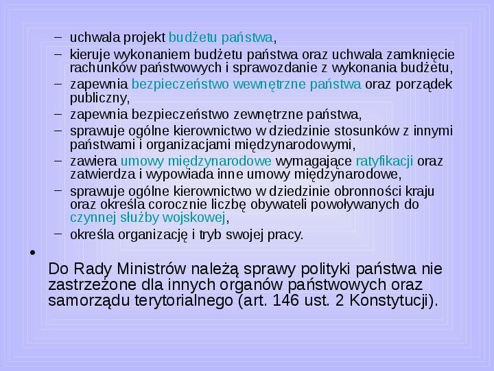 Rada ministrów - Slajd 8