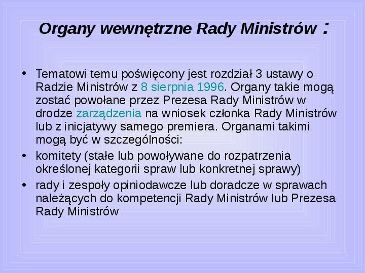 Rada ministrów - Slajd 28
