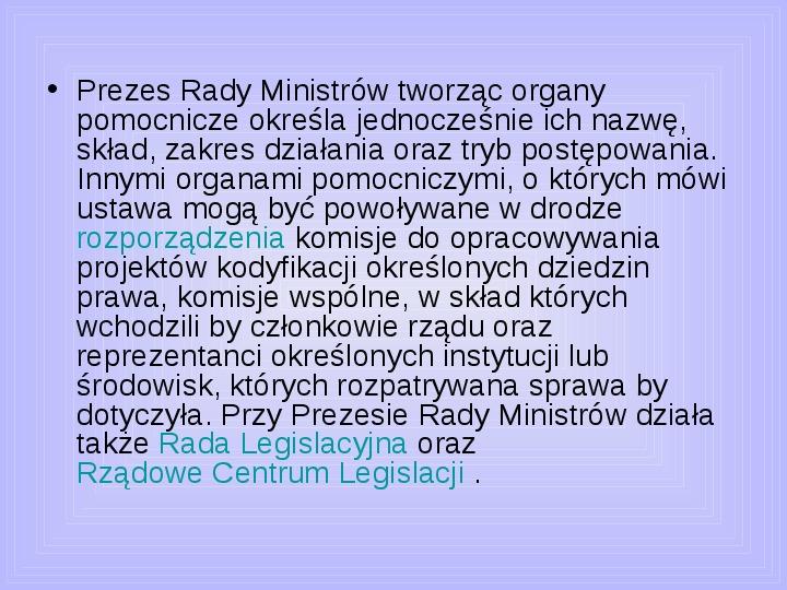 Rada ministrów - Slajd 29