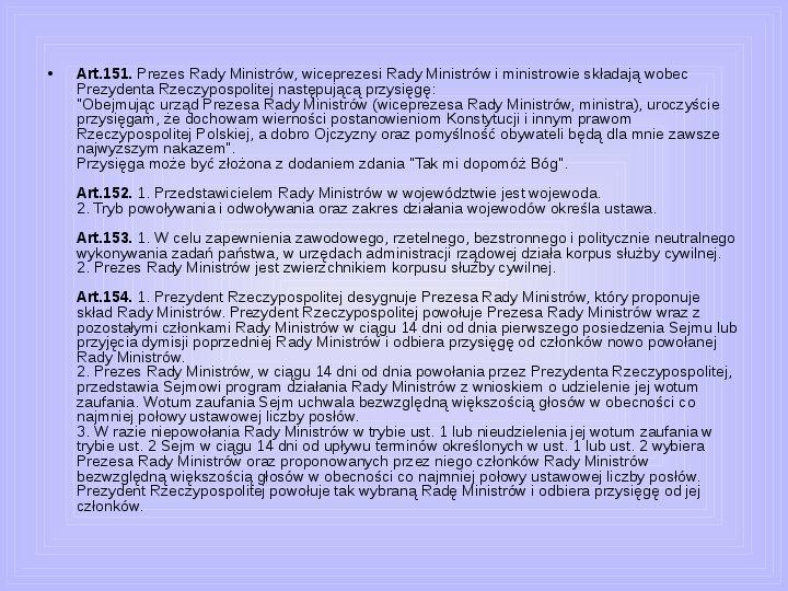 Rada ministrów - Slajd 33