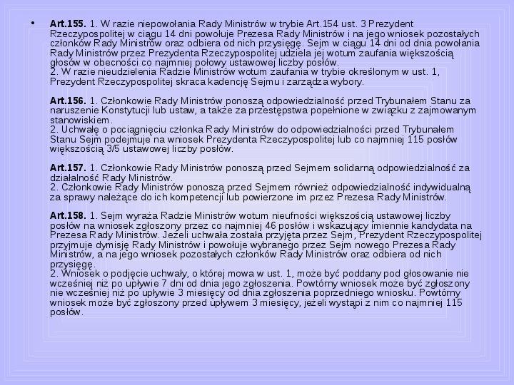 Rada ministrów - Slajd 34