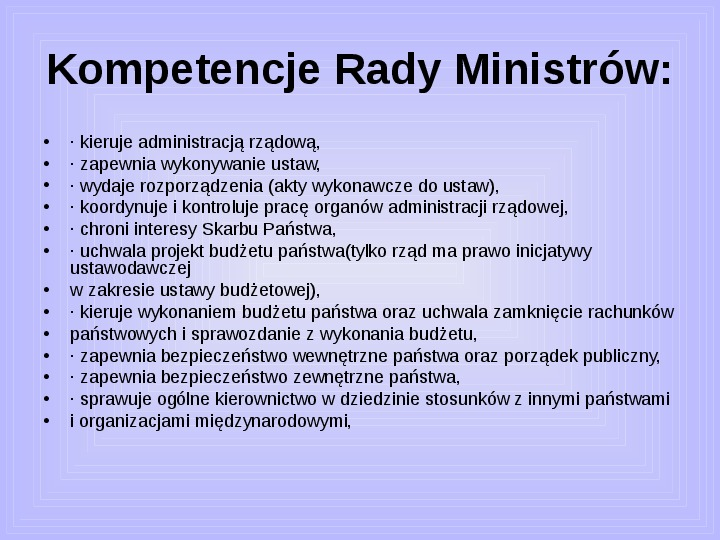 Rada ministrów - Slajd 36