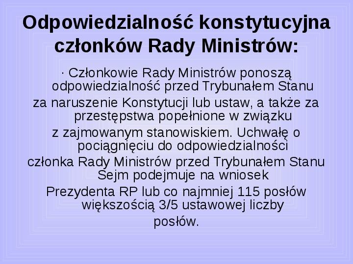 Rada ministrów - Slajd 38