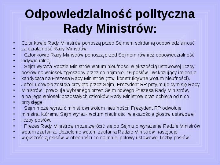 Rada ministrów - Slajd 39
