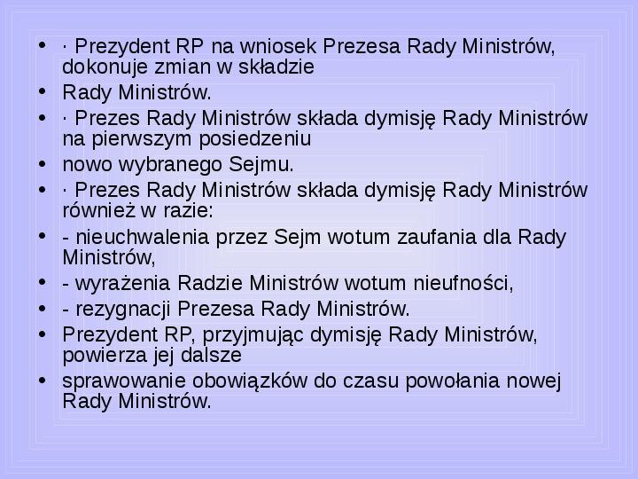 Rada ministrów - Slajd 40