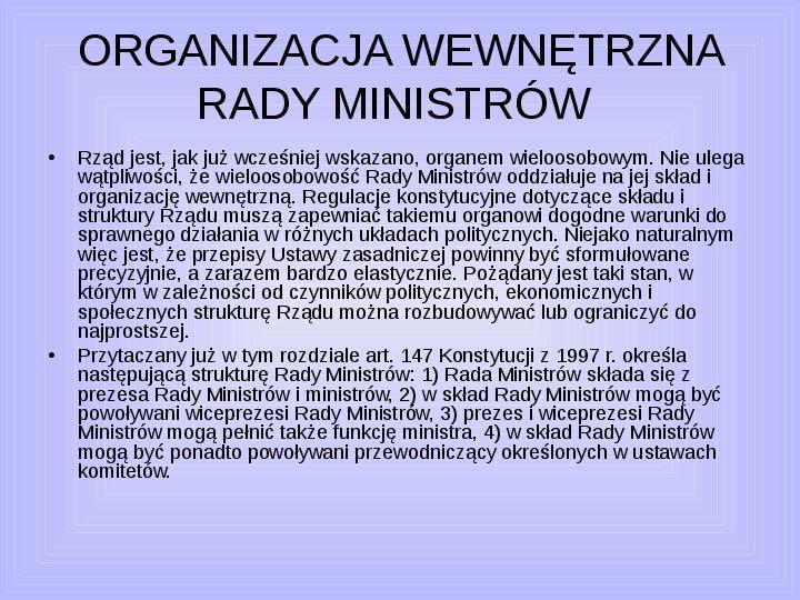 Rada ministrów - Slajd 46