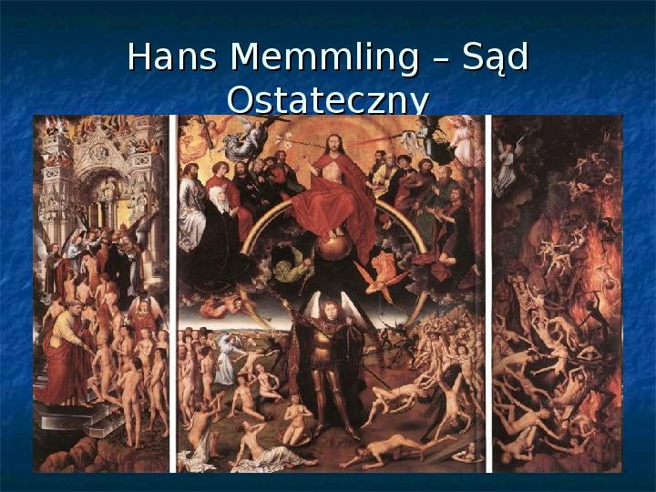 Kultura późnego średniowiecza - Slajd 27