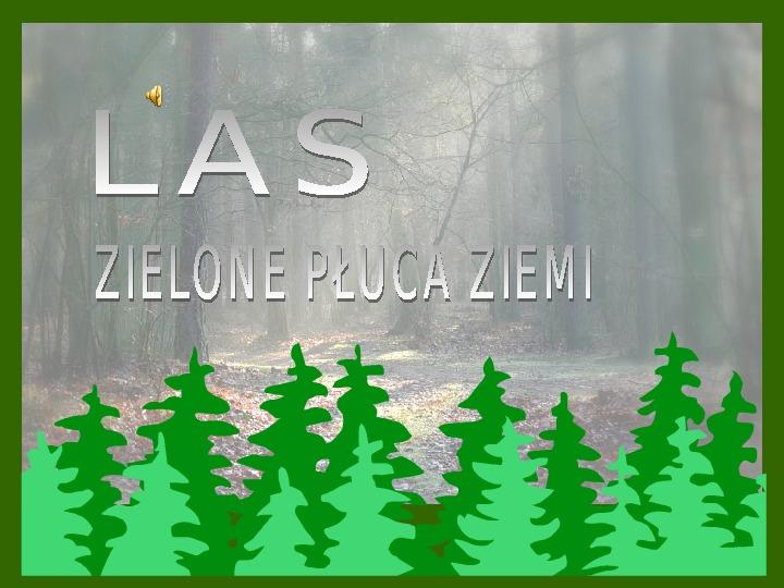 Las - zielone płuca ziemi - Slajd 1