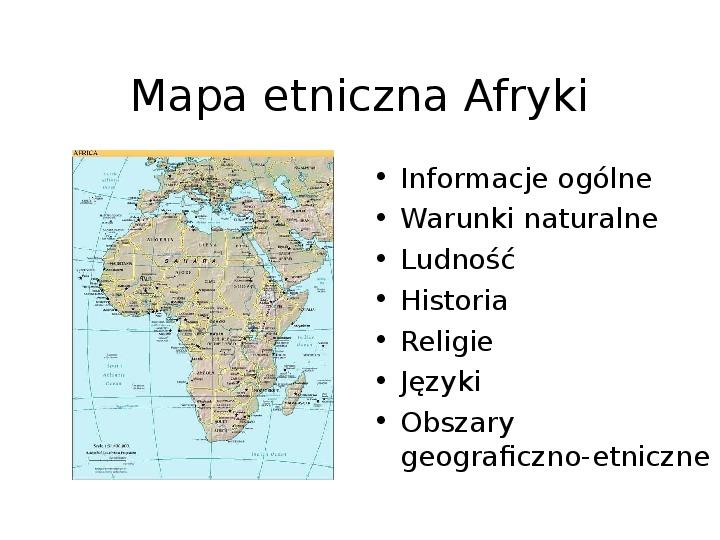 Afryka - kontynent - Slajd 1