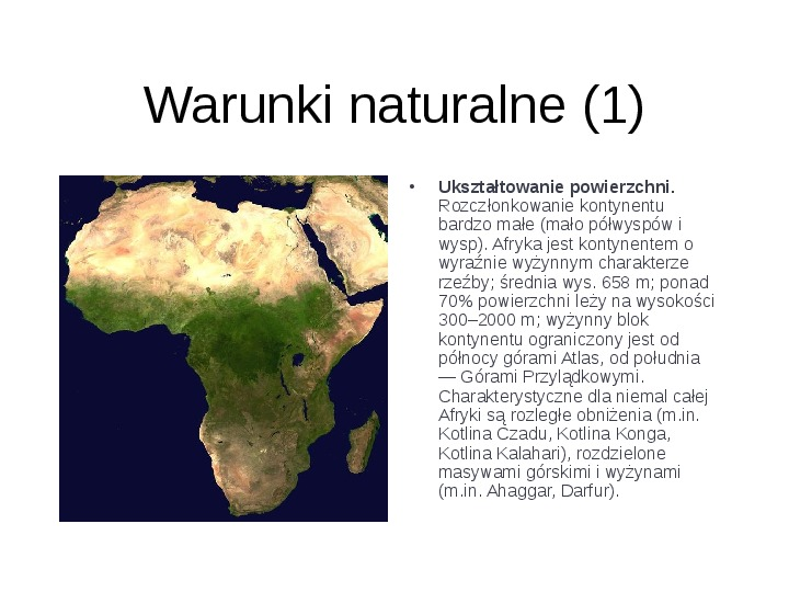 Afryka - kontynent - Slajd 2