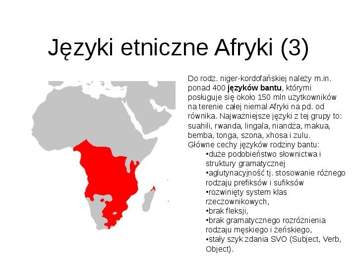 Afryka - kontynent - Slajd 19