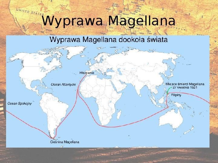 Prezentacja Odkrycia geograficzne  XV - XVI wiek - Świat
