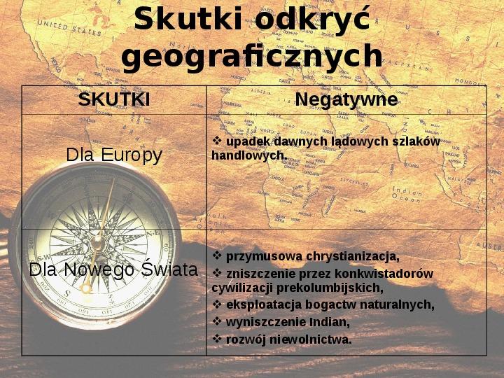Odkrycia geograficzne. XV - XVI wiek - Slajd 13