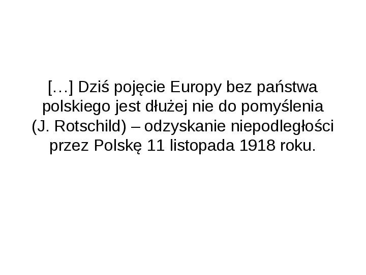 Odzyskanie niepodległości przez Polskę - Slajd 1