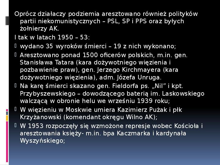 Okres stalinowski w Polsce - Slajd 2