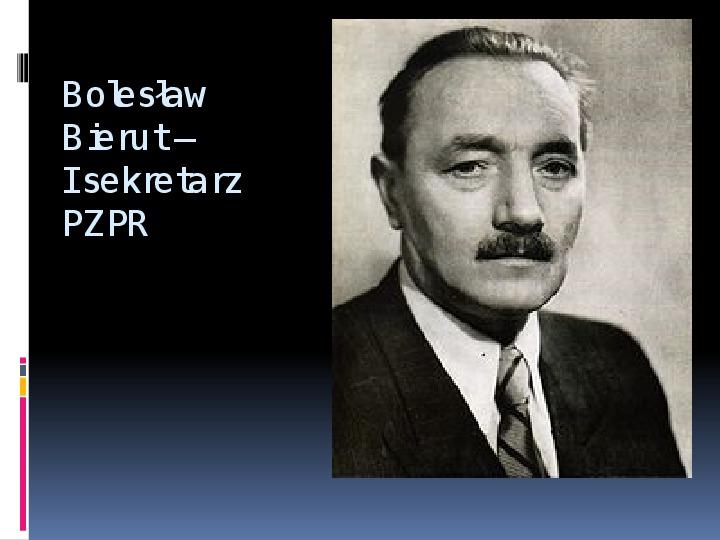 Okres stalinowski w Polsce - Slajd 4