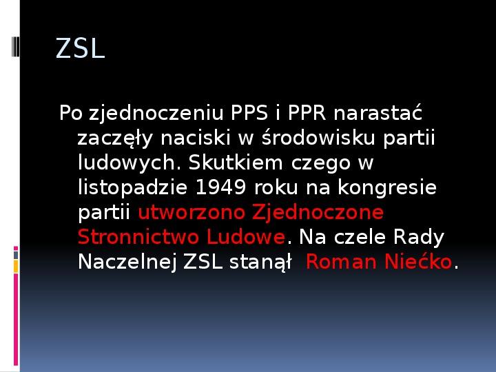 Okres stalinowski w Polsce - Slajd 5
