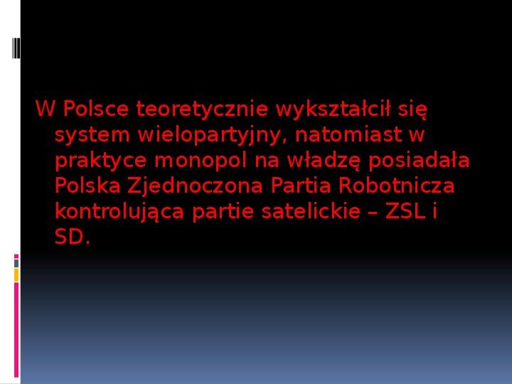 Okres stalinowski w Polsce - Slajd 6