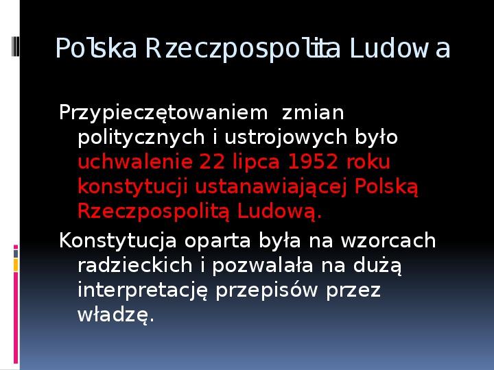 Okres stalinowski w Polsce - Slajd 9