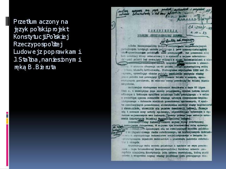Okres stalinowski w Polsce - Slajd 10