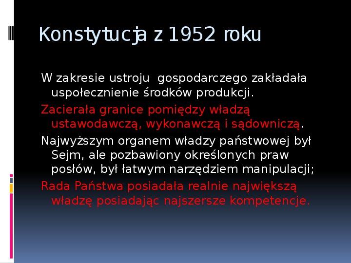 Okres stalinowski w Polsce - Slajd 11