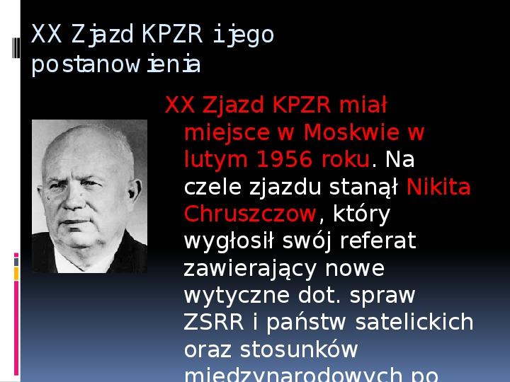 Okres stalinowski w Polsce - Slajd 14