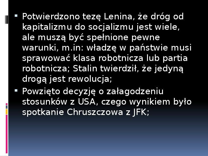 Okres stalinowski w Polsce - Slajd 17