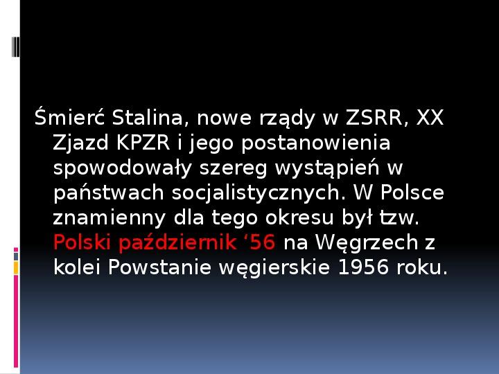 Okres stalinowski w Polsce - Slajd 19