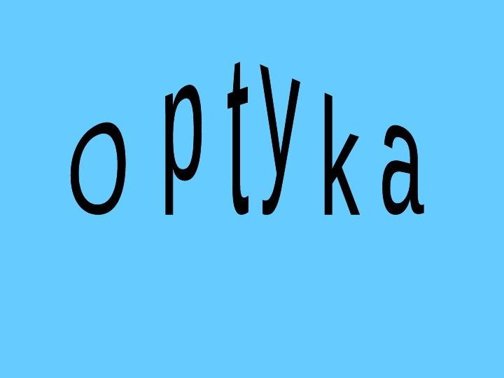 Optyka - Slajd 1