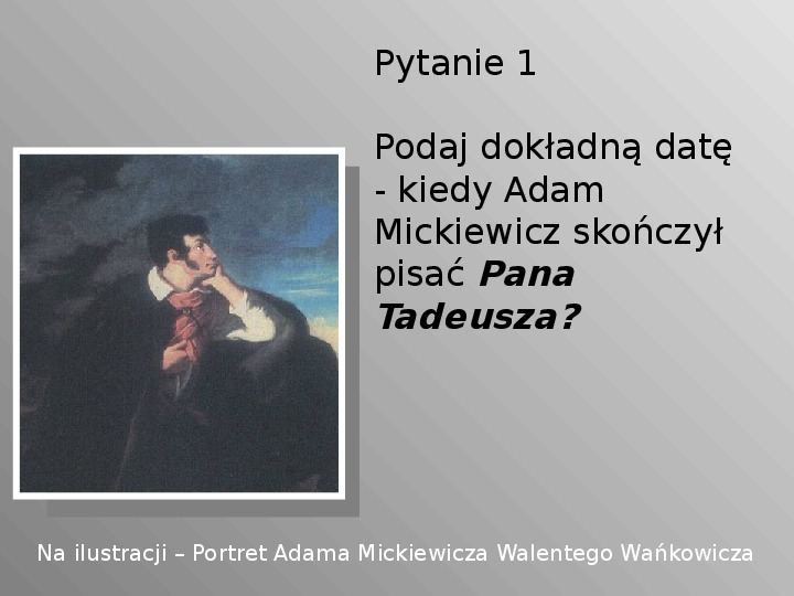 Pan Tadeusz - Slajd 1