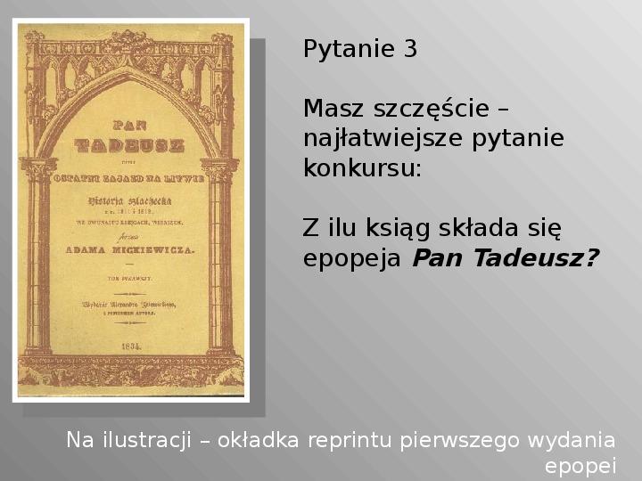 Pan Tadeusz - Slajd 3
