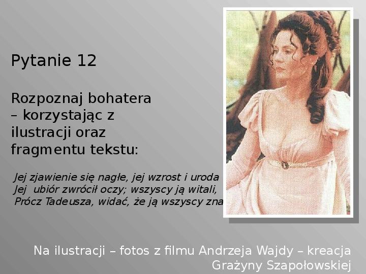 Pan Tadeusz - Slajd 12