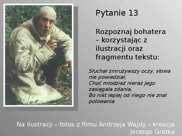 Pan Tadeusz - Slajd 13