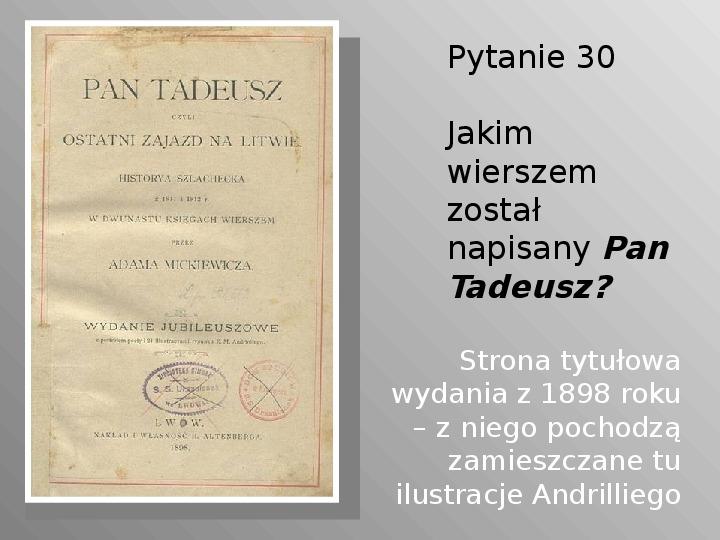 Pan Tadeusz - Slajd 30