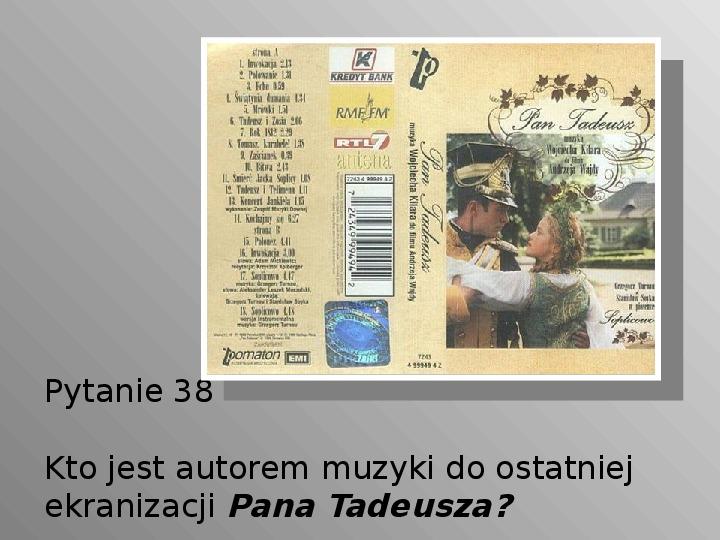 Pan Tadeusz - Slajd 38