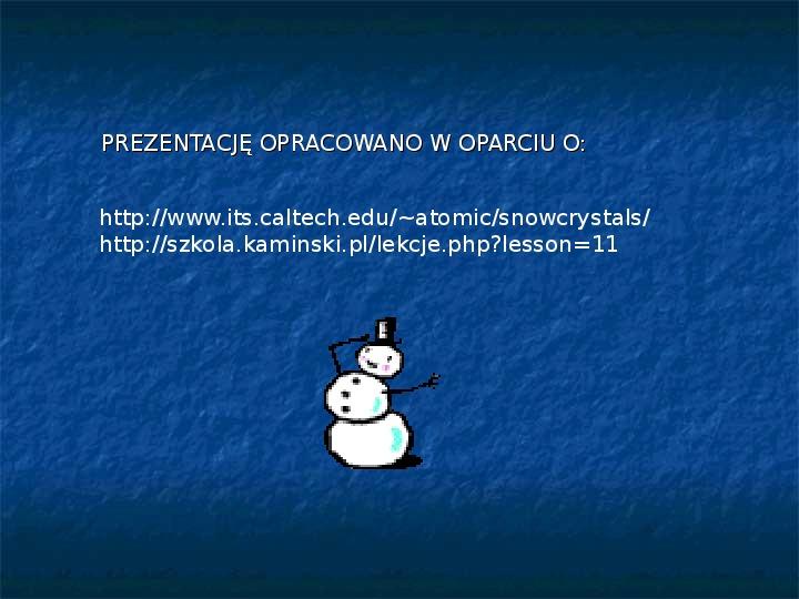Płatki śniegu - Slajd 24
