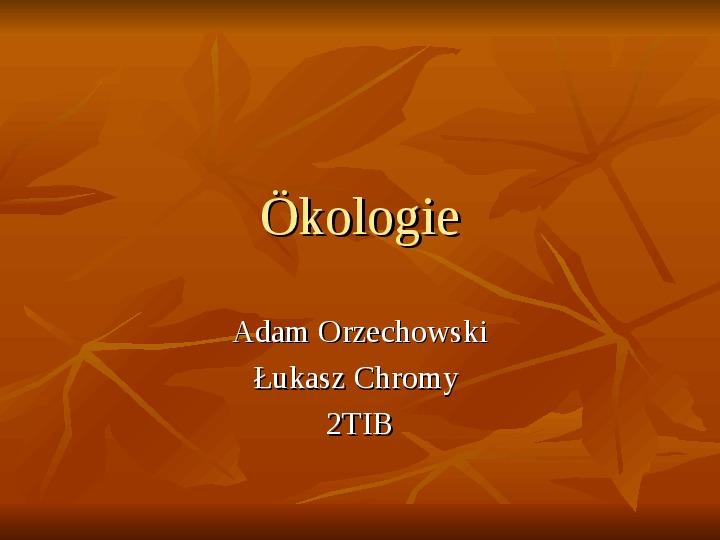 Ekologia - Slajd 1